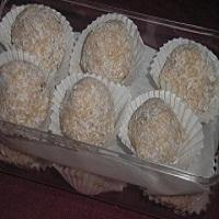Bombones de chocolate con coco