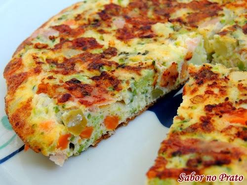 omelete de forno de legumes simples