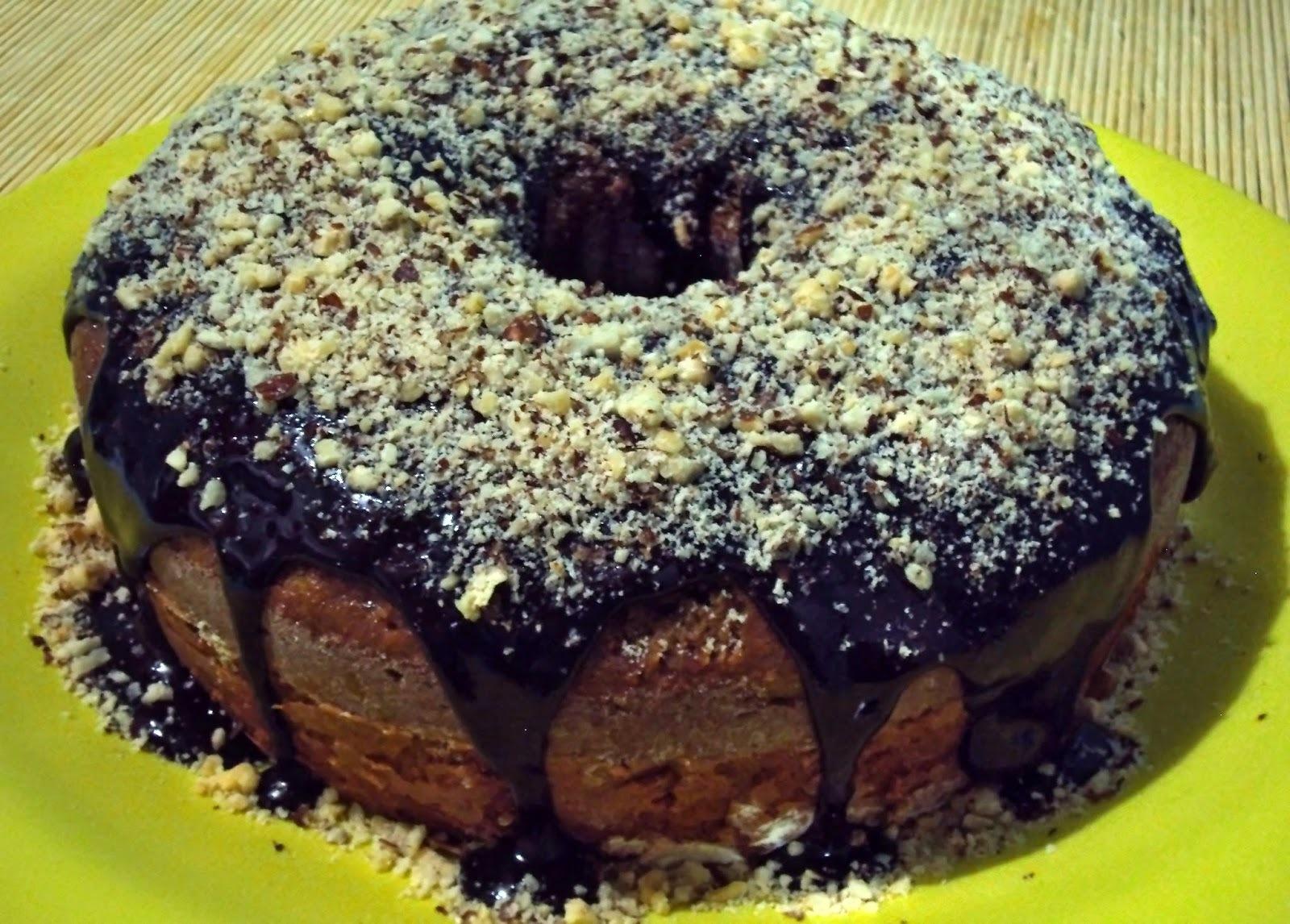 bolo de chocolate light com farinha integral e açucar mascavo