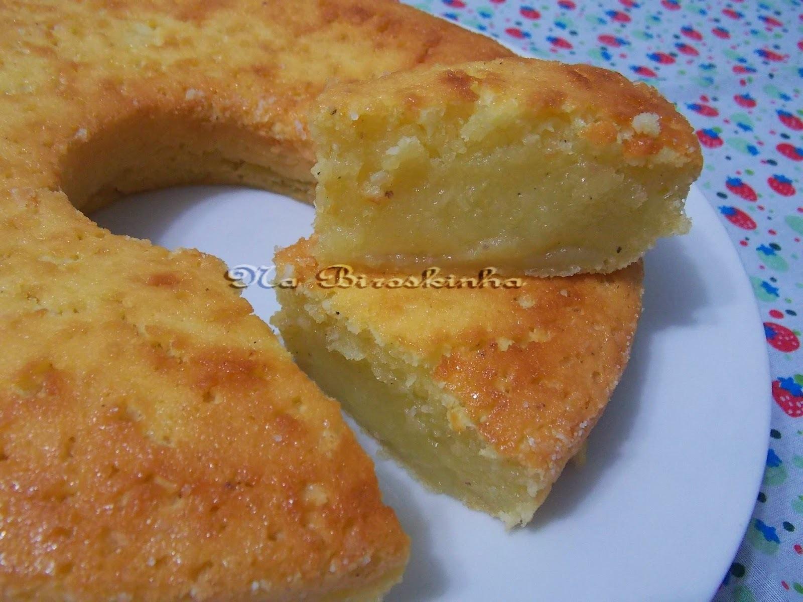 bolo de macaxeira cremoso com leite condensado e creme de leite