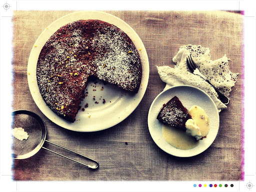 Walnut, Honey and Orange Blossom Cake