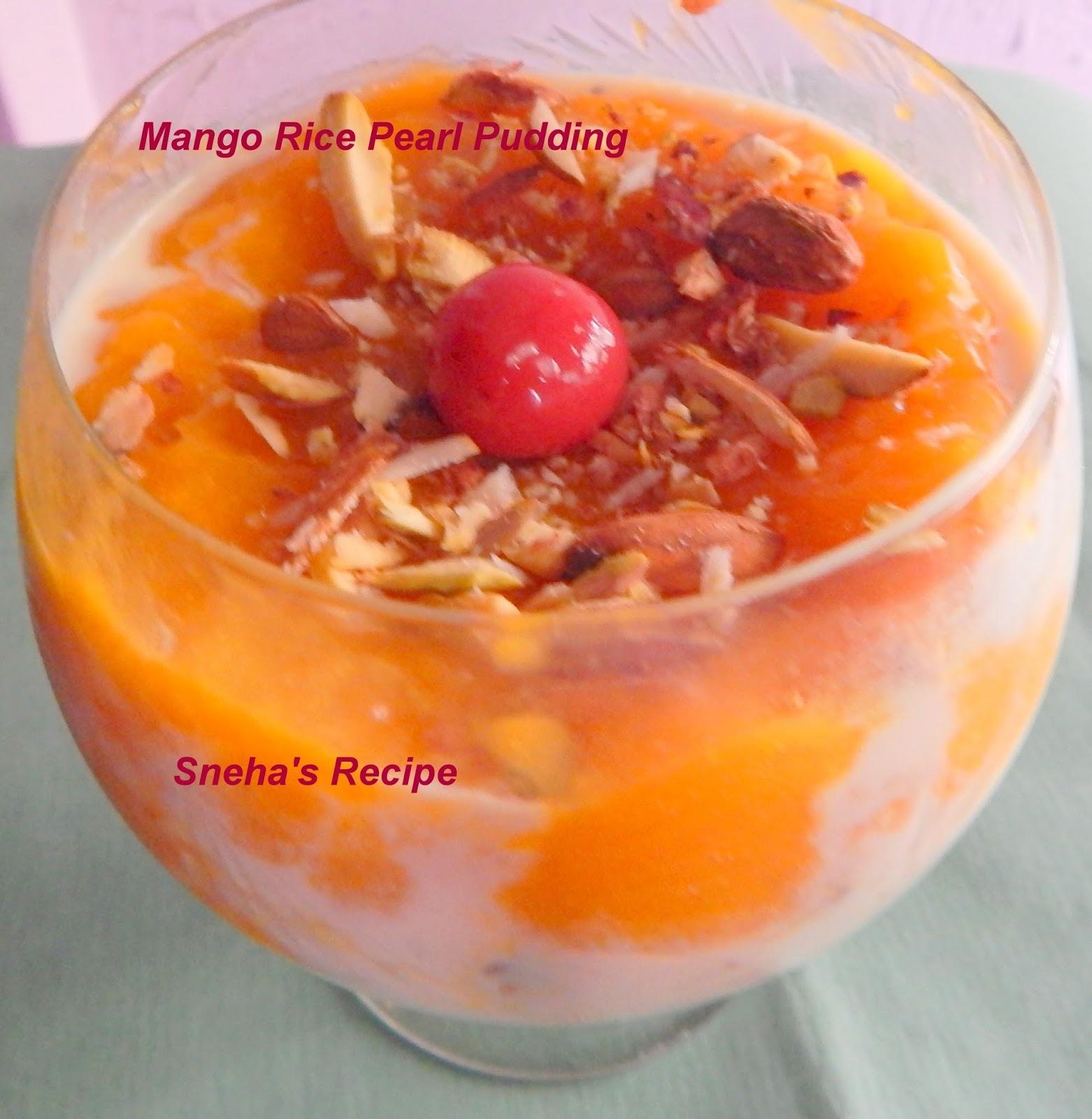 indian mango pudding