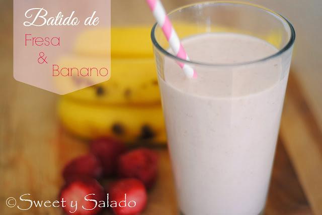 Batido De Fresa & Banano