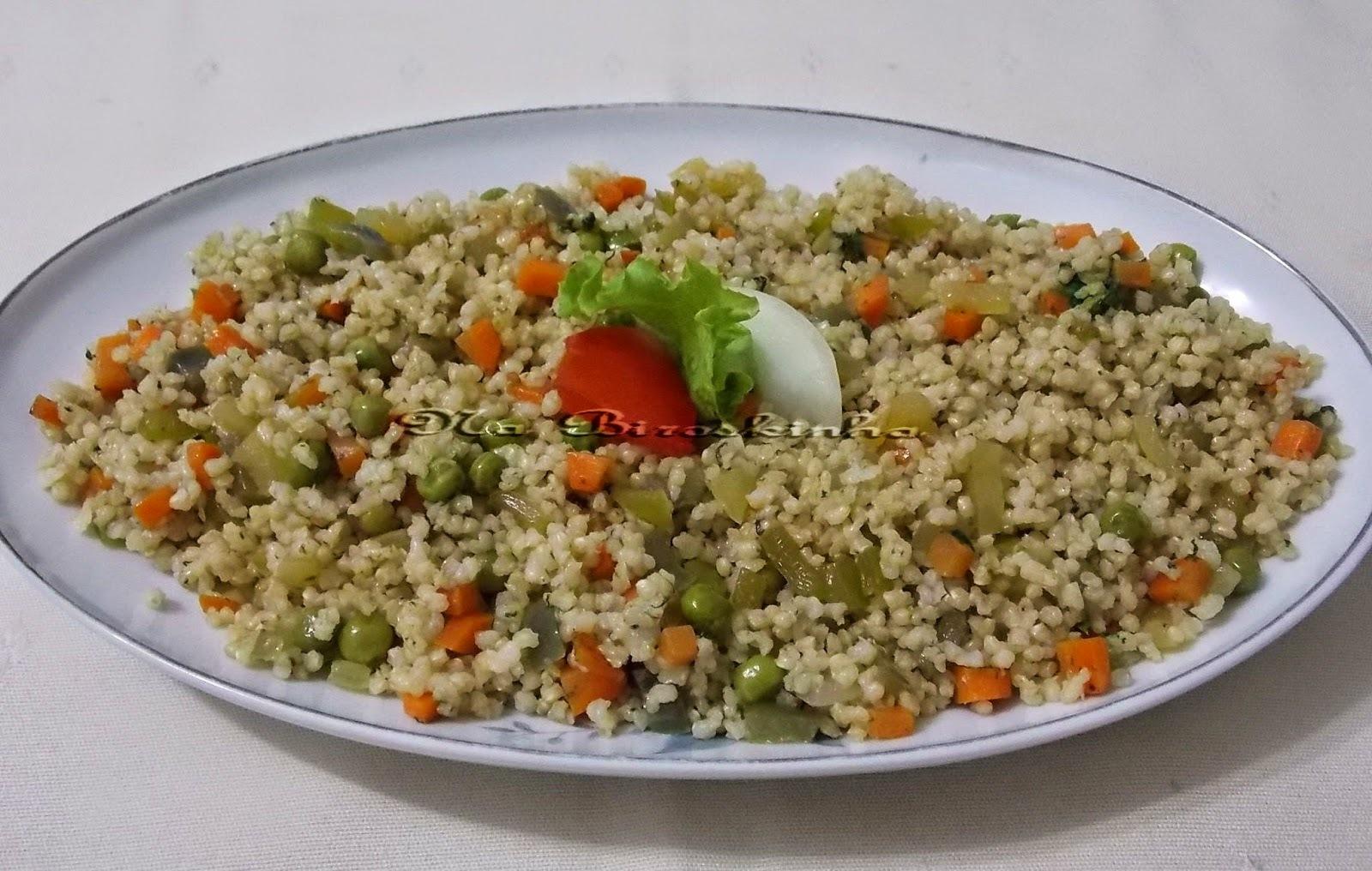 Mini Arroz Integral com Legumes