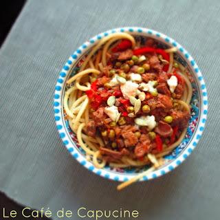 Variáció egy lusta nap étkeztetésére: zöldséges, májas tészta