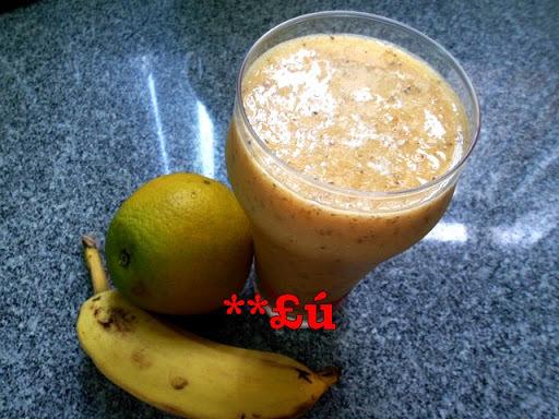 vitamina de melao com banana