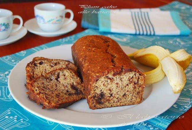 ΖΟΥΜΕΡΟ ΚΕΪΚ ΜΕ ΜΠΑΝΑΝΑ ΚΑΙ ΣΟΚΟΛΑΤΑ  ♦♦  PLUM CAKE ALLE BANANE