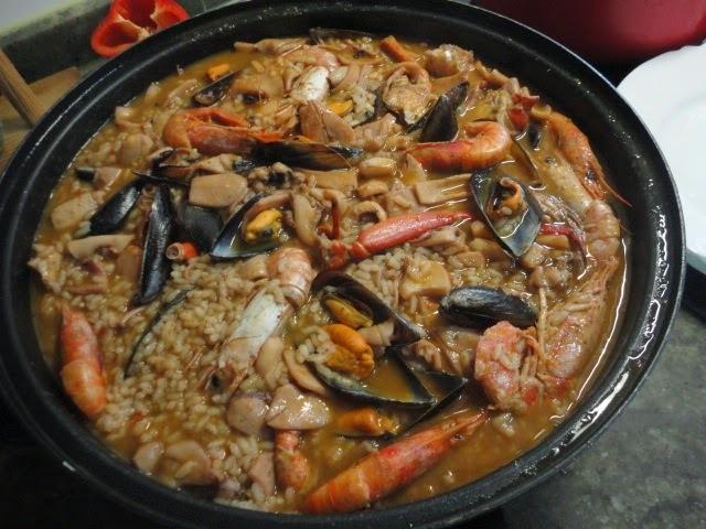 Paella Española de Mariscos