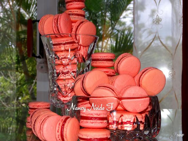 Macarons de framboesa