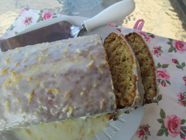 Vanilla  and cream cheese Pound cake and citrus glaze ...and the Picnic game