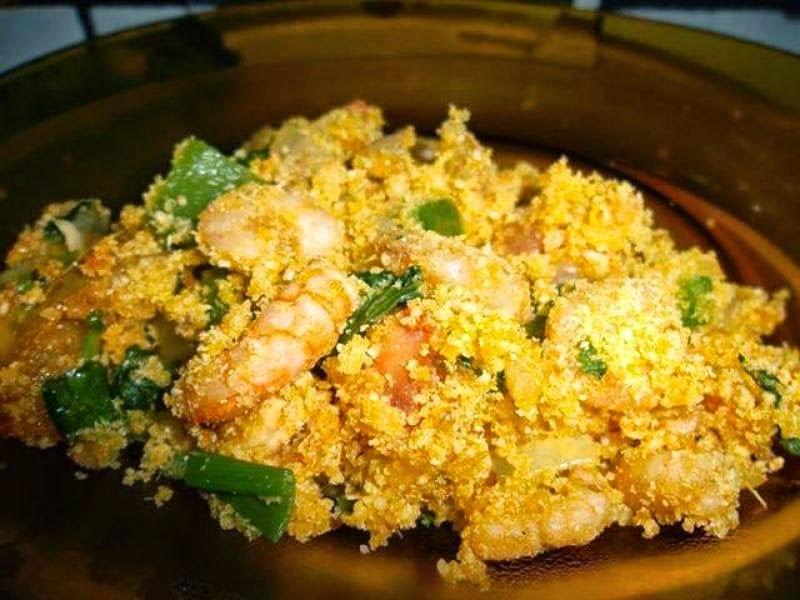 Farofa de camarão