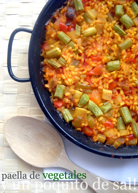 [whole kitchen] arroz con vegetales al horno en PAELLA
