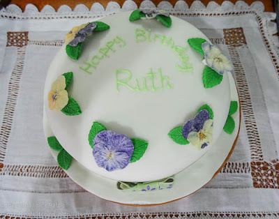 Birthday Cake with Edible Flowers