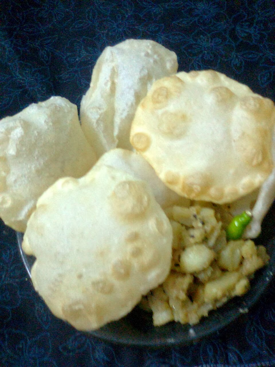 Bengali Breakfast -  Luchi And White Potato Curry