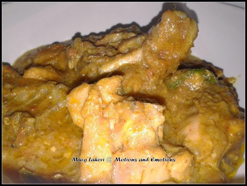 Lahori Murg / Murg Lahori / Lahori Chicken