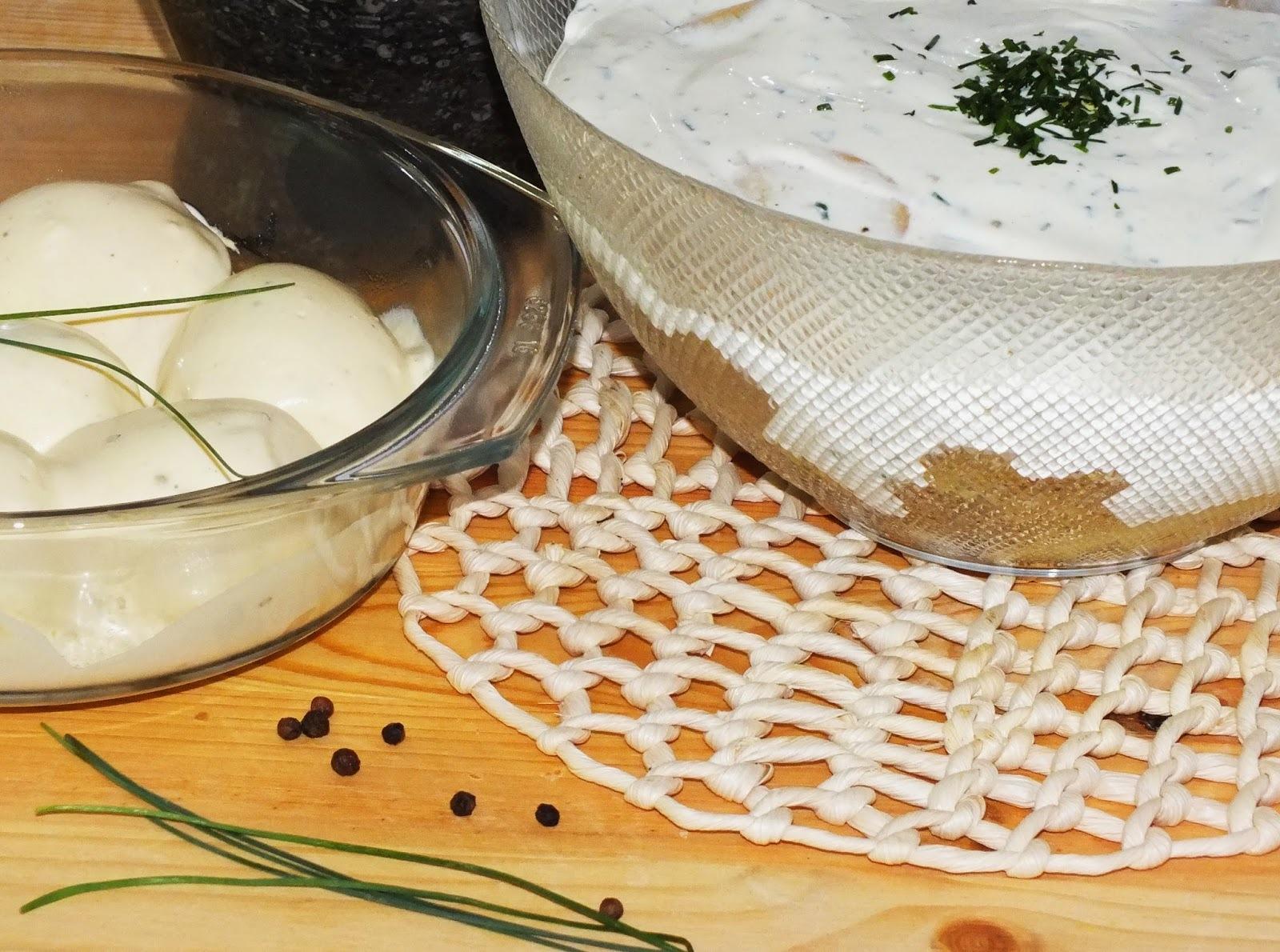 Kaszinó tojás, majonézes krumplisalátával