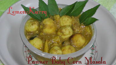 Paneer Baby Corn Masala:Winter Recipes