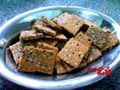 de biscoito salgado com farinha integral