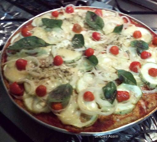 Atendendo a Pedidos - Pizza com massa de Couve-Flor