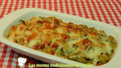 Receta de verduras gratinadas con bechamel