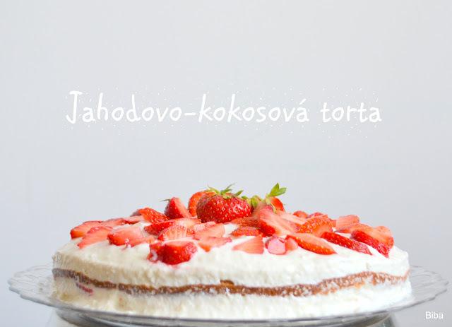 Jahodovo-kokosová torta bez múky