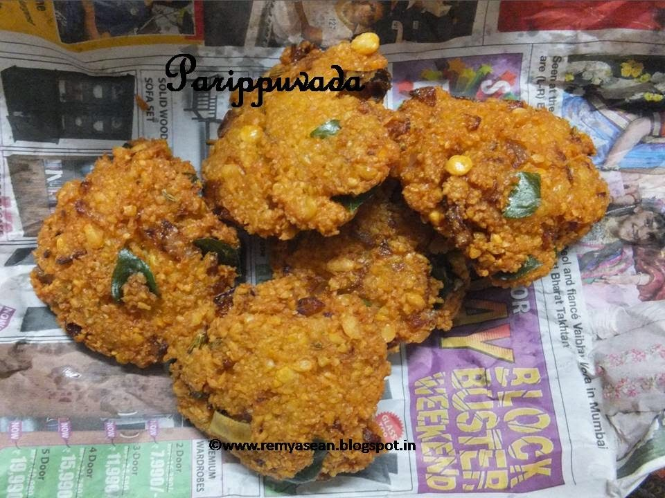 Parippuvada/Lentil fritters