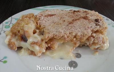 Torta de Farofa com Banana