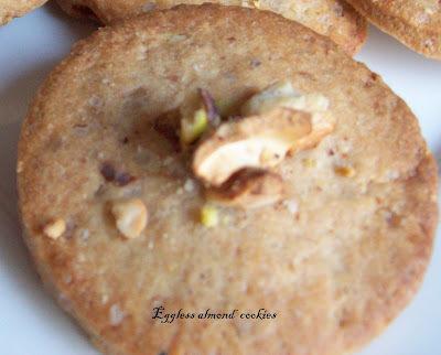Eggless Almond Cardamom Cookies