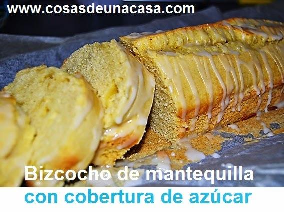 Bizcocho de Mantequilla con Cobertura de Azúcar