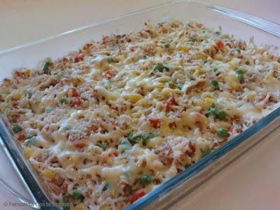 como fazer arroz com atum e milho