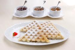 Receita de waffle.