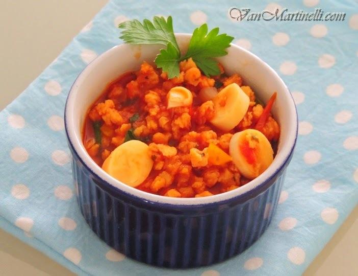 Proteína de soja ao molho de tomate