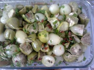Conserva de jiló com cebolas