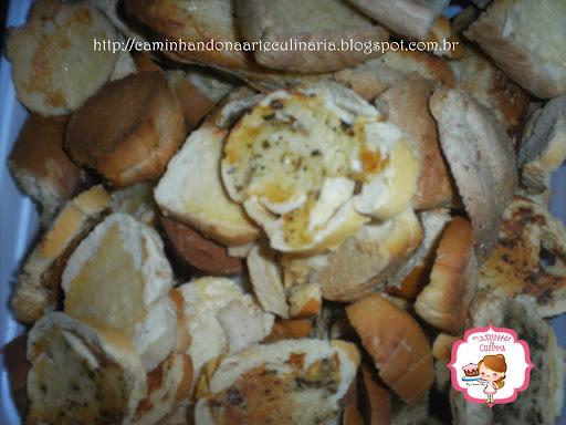 torradas temperadas com oregano