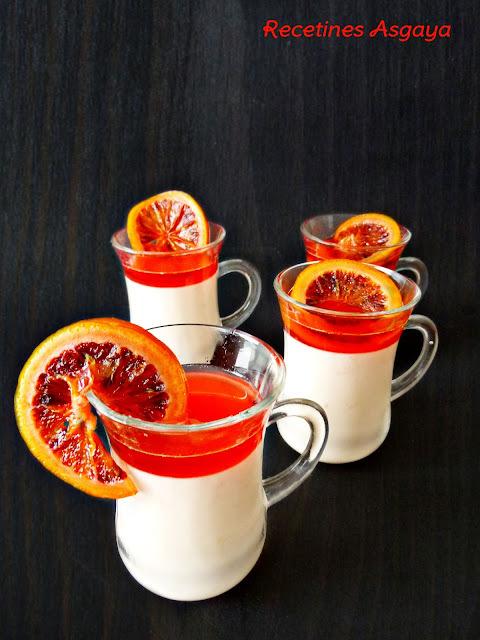Panna Cotta de Naranja Sanguina