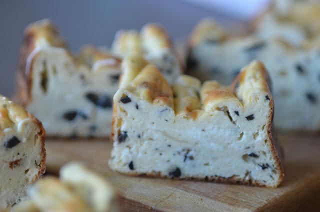 Gâteau à la Ricotta et aux olives