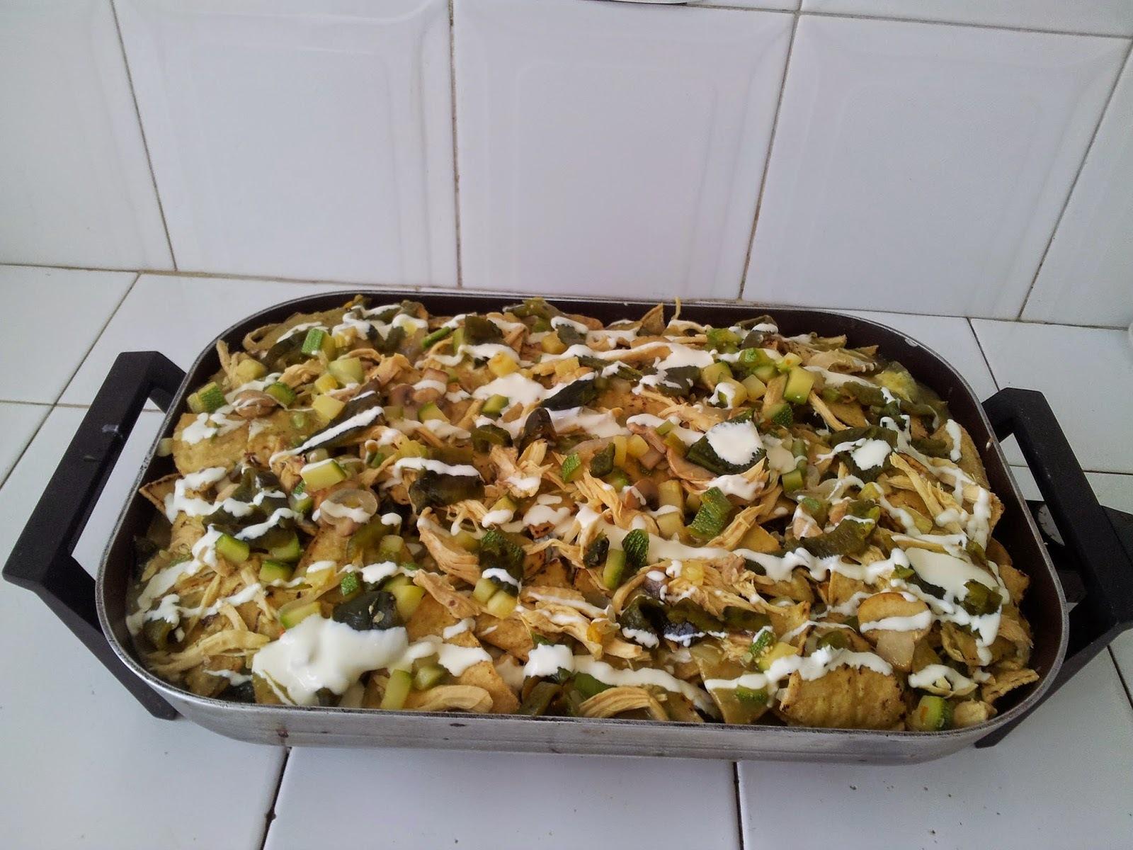 Pastel Azteca (Chilaquiles al horno)