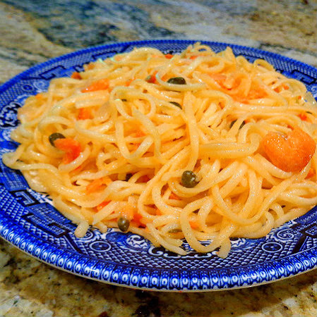 Linguine with Smoked Salmon and Capers