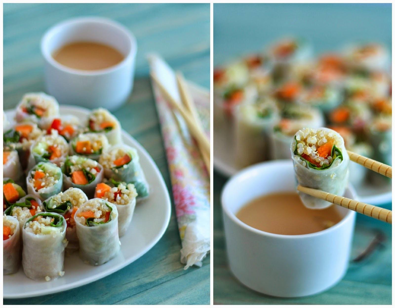 Receta: Spring rolls de quinoa y verduras