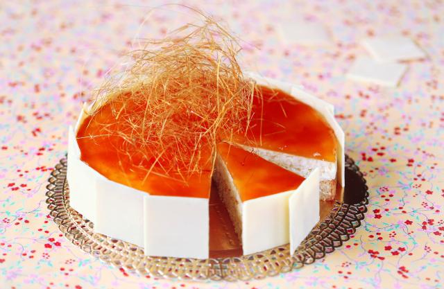 Рисовый торт с карамелью / Torta de arroz com caramelo