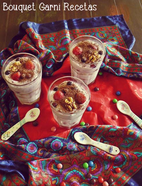 Torta-postre en vaso (para festejar el 4to. aniversario del blog)