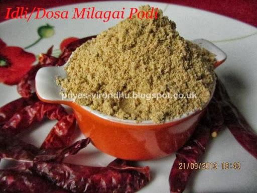 Idli Milagai Podi/Idli Podi [Side dish for idlis, dosas, paniyaram etc]