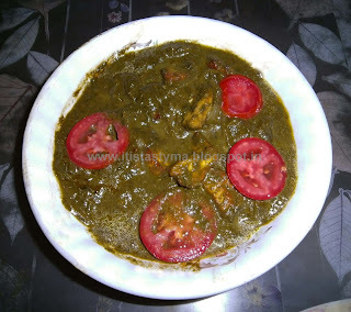 Palak Paneer (Cottage Cheese in Spinach Sauce)