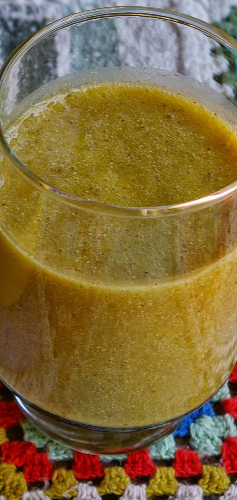 Leite de linhaça com abóbora e açúcar mascavo