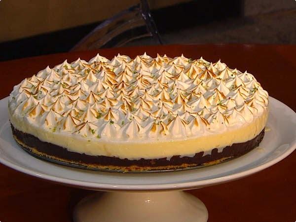Torta de Limão com Ganache de Chocolate