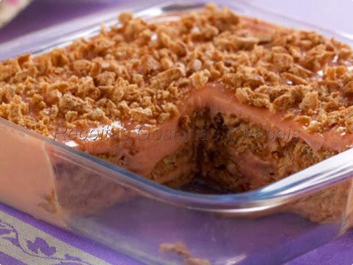 de pavê de morango com gelatina
