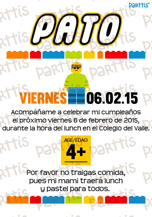 La colorida fiesta Lego de Pato