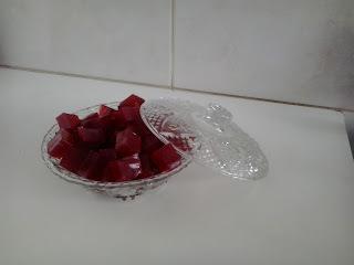Balas de gelatina com colágeno