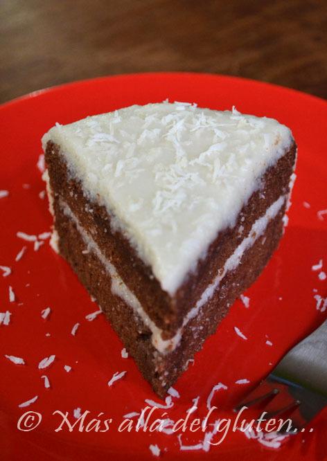 Torta de Chocolate con Cubierta de Coco - Sin Huevos (Receta GFCFSF, Vegana)