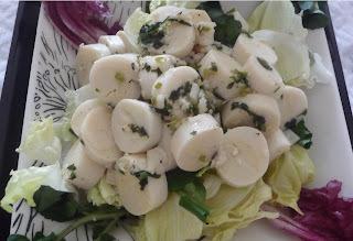 Palmito com ervas e azeite trufado